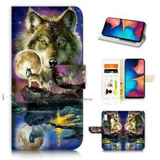 ( For Samsung A20 ) Wallet Flip Case Cover AJ21448 Spirit Wolf