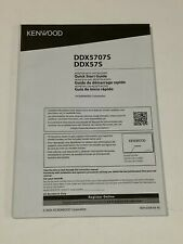 KENWOOD  OWNER  MANUAL FOR  MONITOR WITH  RECEIVER    DDX5707S   DDX57S
