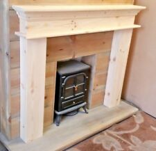 PINE CHUNKY FIRE SURROUND MANTLE FIREPLACE free postage