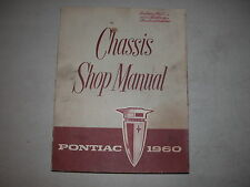 Pontiac 1960 Chassis Shop Paperback Factory OEM Manual