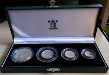 More details for 2007 royal mint britannia 4 coin proof set, 1.85 tr oz pure silver, box and cert