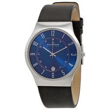 Skagen Men's 233XXLSLN 'Grenen' Black Leather Watch
