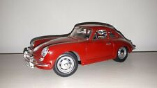 PORSCHE 356 B 1961 BORDEAUX BURAGO SCALA 1:18 NO BOX