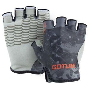 Goture Fishing Gloves Non-Slip Breathable Half Finger Men Gloves Hiking Cycling