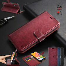Luxury Premium Phone Case Flip Leather Wallet Cover RFID Blocking Cases