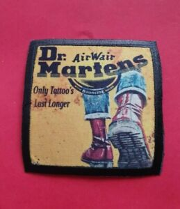 Dr MARTENS BOOTS AIRWAIR SOLE CHERRY RED SKINHEAD Scooters trojan Sew on patch