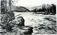 Oregon COLUMBIA RIVER CASCADES RAPIDS WHITEWATER, 1888 Landscape Art Print RARE!
