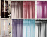 "Slot Top Voile Net Panel. Drops 48"" 54"" 63"" 72"" 81"" 90"". In 10 Colours"