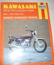 Haynes Workshop Manual for KAWASAKI 500 & 750 1969 to 1976 KH  KH500 H Mach III
