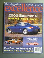 """2000 Porsche Excellence Magazine #91 February 2000 """"2000 Boxster S"""" RARE!! L@@K"""