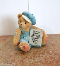 Cherished Teddies Cub E. Bear With Newspaper Symbol Of Membership #Ct0001 (Ct14)
