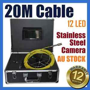 20M Snake Cable Under Water Sewer Drain Pipe Wall Inspection Endoscope Camera