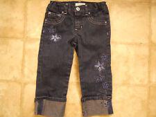 Circo Capri Jeans Girl Size 4 Adjustable Waistband Blue