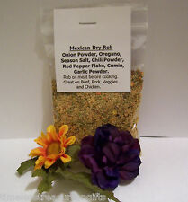 NEW Homemade Mexican Flavor Dry Rub Packet Food Gift BBQ Seasoning Spice Meat