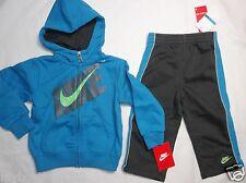 Nike Jersey Azul Multicolor Niños Chaqueta con Capucha & Pantalones Set Talla