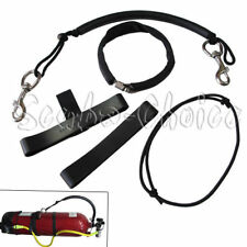"""Scuba Diving 6"""" Tank Sidemount Strap with Clamp and Stainless Steel Clips"""