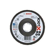 Bosch Fächerschleifscheiben Best for Metal X571 K60 125mm X-LOCK gekröpft 10Stk