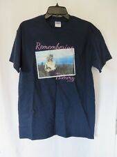 Gildan Remembering Tammy Wynette 2015 T Shirt Short Sleeve Crew Navy M  #7576