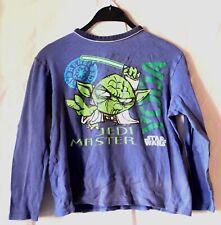 Star Wars Yoda Pullover langärmliges Jungen Kinder Sweatshirt  Größe 146 / 152