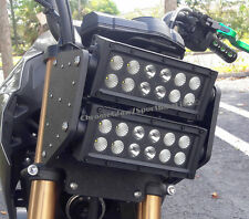 Kawasaki Z125 Pro Double LED Light Bar Headlight Conversion Kit; Black-Out Face