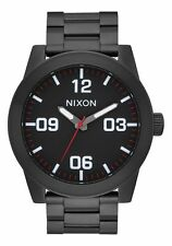 BRAND NEW NIXON CORPORAL SS Men's Watch 48mm | SS BLACK / WHITE | A346 756