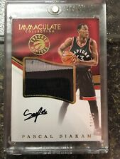 PASCAL SIAKAM 2016-17 IMMACULATE ROOKIE PATCH AUTO /35 RAPTORS