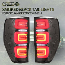 Pair LED Tail lights Smoked Black For Ford Ranger PX MK T6 XLT Wildtrak Raptor