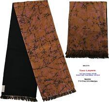 Unisex Premium Quality Unique Reversible Wool & Silk Long Scarf Batik 2174