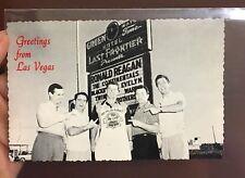 Vintage Deckle Edge Postcard of Ronald Reagan in Las Vegas in 1954 Very Old!