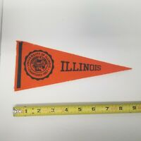 "Vintage University of Illinois 9"" Pennant, Alumni Collectible"