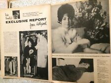 Elizabeth Taylor, Two Page Vintage Clipping