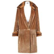JEAN PATOU Couture c.1920s Bronze Fur Trim Velvet Drop Waist Evening Jacket Coat