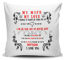 My Wife My Love I Promise To Always Be There For You Gift Cushion Cover