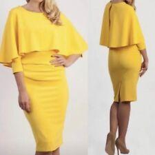 BNWT Diva Catwalk Dress Size XL 14/16 Yellow Mother Of The Bride Wedding D135