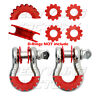 "New RED Isolator Washers 1 Pair Set Silencer Clevis for 3/4"" D-ring Shackles"