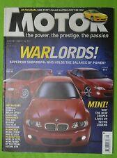 Motor Aug 2001 Mitsubishi Lancer Evo VI BMW M3 SMG II HSV GTS Jaguar XJR