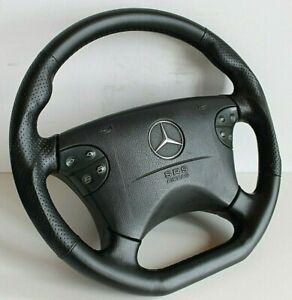 Steering Wheel Mercedes Benz Leather Flat AMG Style OEM W210 W208 CLK E G 00-03'