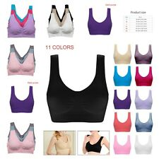 Sports Bra Seamless Fitness Stretch Yoga Crop Top Workout Vest Women Underwear