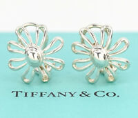 TIFFANY&Co Large Daisy Earrings Picasso Silver 925 Clip-On #1690