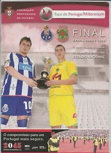 Orig.PRG  Portugal Cup  2008/09  FINAL  PACOS DE FERREIRA - FC PORTO  !!  RARE