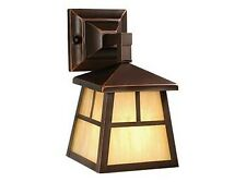 Mission-Outdoor Wall Sconce-6 Inches Wide by 10 Inches High   Burnished Bronze