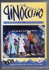 dvd LE AVVENTURE DI PINOCCHIO Commedia musicale Registrato dal vivo a Torino
