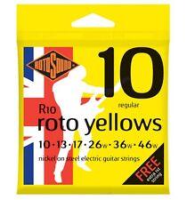 Rotosound R10 Roto Jaune cordes pour Guitare Électrique 10-46 gratuit Haut 'e'