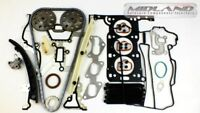 HEAD GASKET SET+BOLTS+TIMING CHAIN KIT FOR AGILA CORSA C D 1.0 12V Z10XEP 2003>>