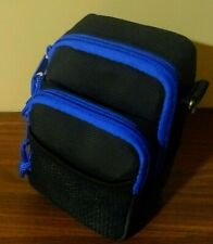 NEW! Compact Digital Camera Case. Black & Blue. Quality small bag. FREE SHIPPING