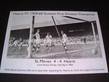 HEARTS FC HEART OF MIDLOTHIAN FC 1959-60 LEAGUE CHAMPIONS WILLIE BAULD GOAL