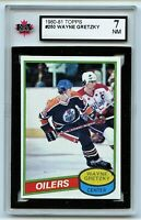 1980-81 Topps #250 Wayne Gretzky HOF **Scratched** Graded 7.0 NM (*2020-303)