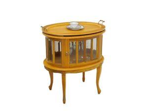 Beistelltisch Teeschrank Barschrank Antik Stil Massivholz Kirschbaumfarbe (5981)