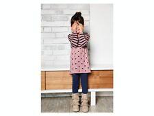 New LUPILU Girls Knitted Jumper Dress- Pink Strip Pattern Size 2-4 Years