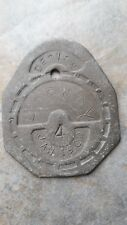 RARE HORNBY DESIGN LEAD PLAQUE MEDAL TOKEN DATED JAN 1900 TRAIN ? SHOW EXPO ?